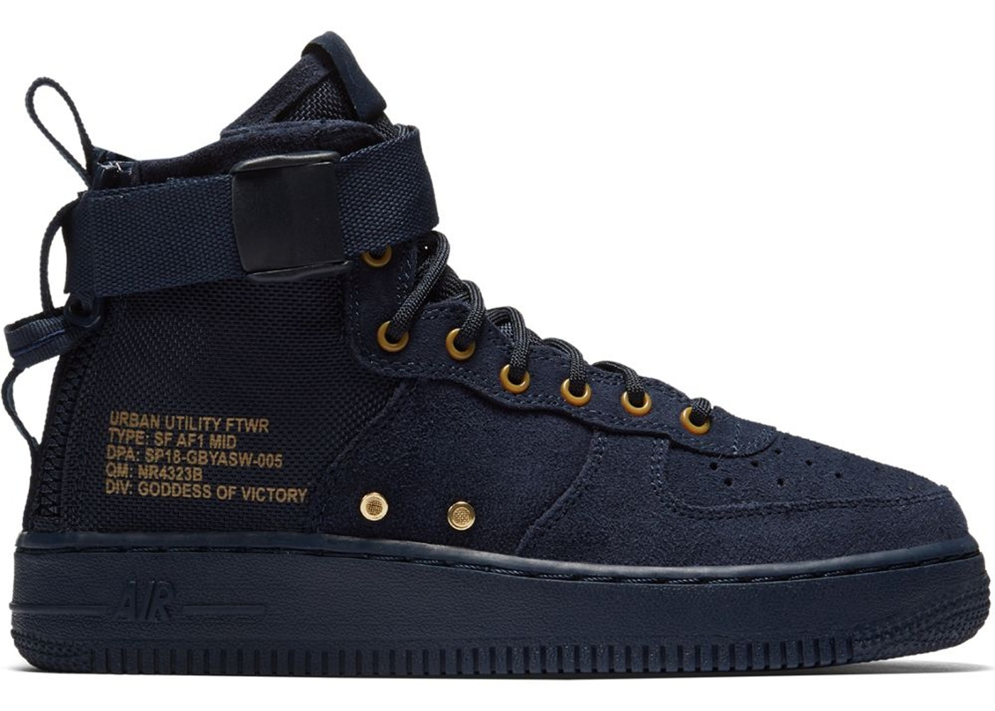 best sneakers e7e85 d073c SF Air Force 1 Mid Obsidian Black (GS)