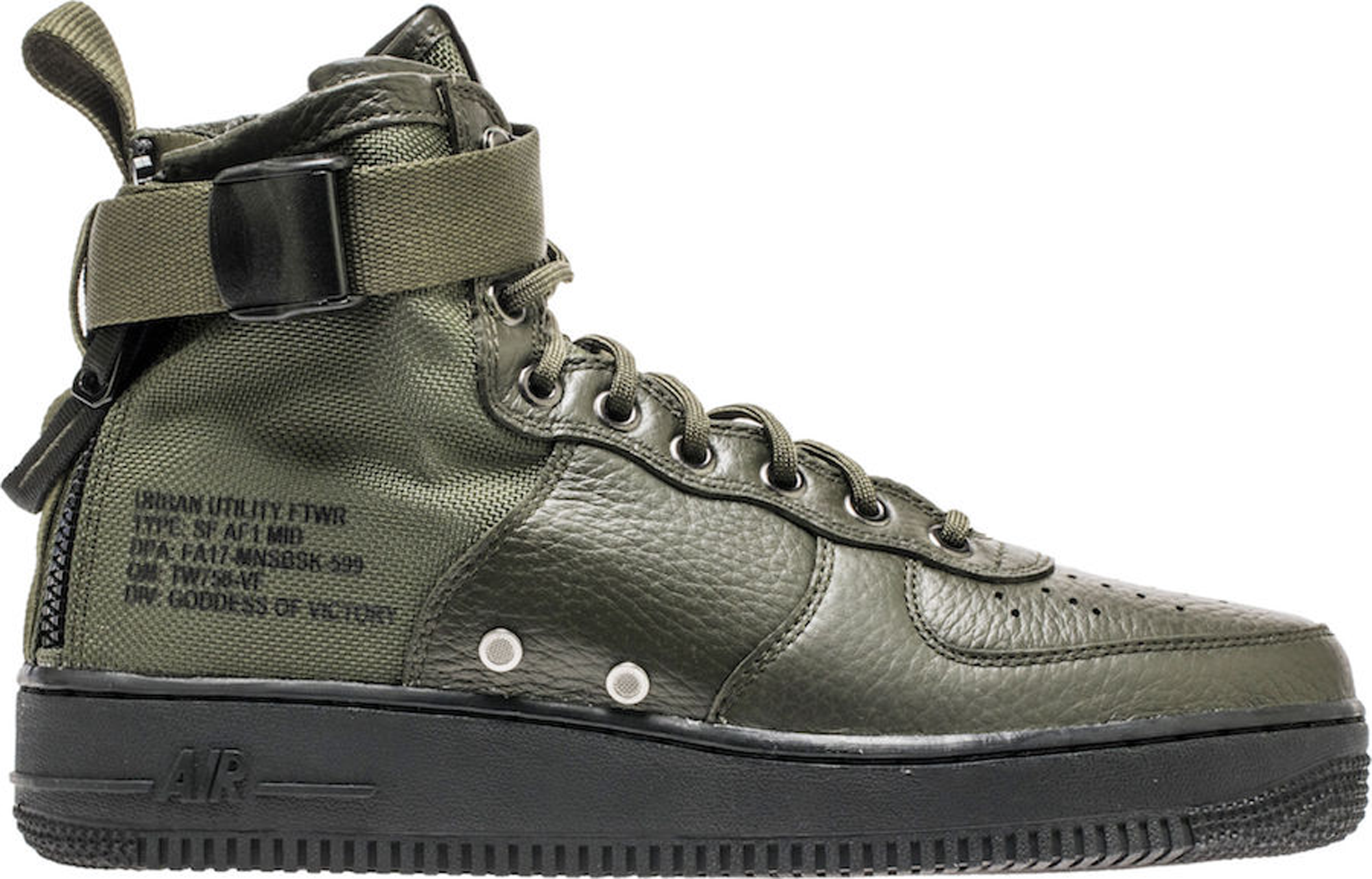 ... blackblack cargo khaki 2017 for sale bd14e 5220f  get release date  profile 917753 002 nike sf air force 1 mid qs aa7345 001 tiger af5249fe3