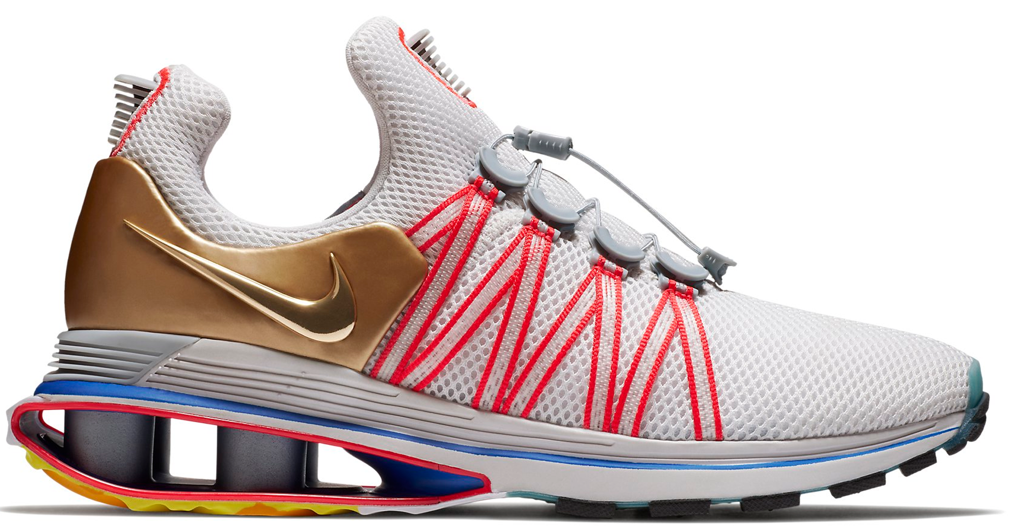 Nike Shox Gravity Vast Grey Metallic Gold