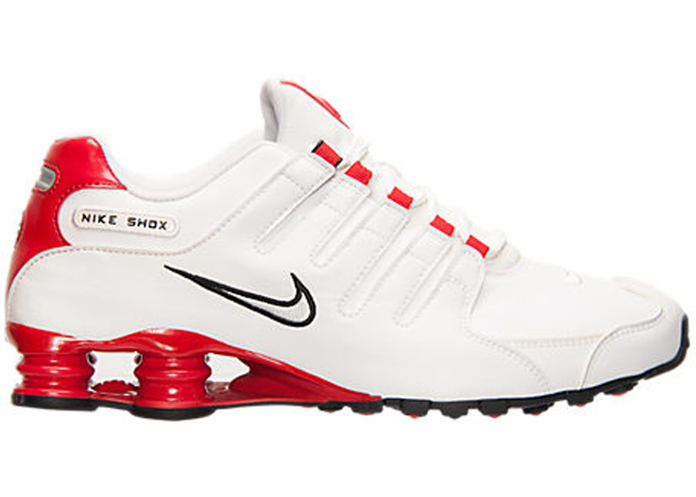 more photos ddde3 ae28a Nike Shox NZ White University Red