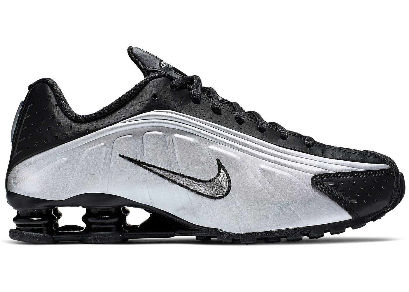 watch 7d27c 1186d Sell. or Ask. Size  7.5. View All Bids. Nike Shox R4 Black Metallic Silver
