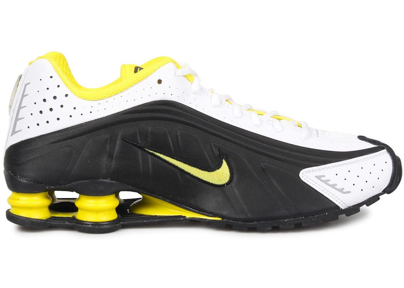 Incomodidad Ajustable Mula  Nike Shox R4 Black Yellow - 104265-048