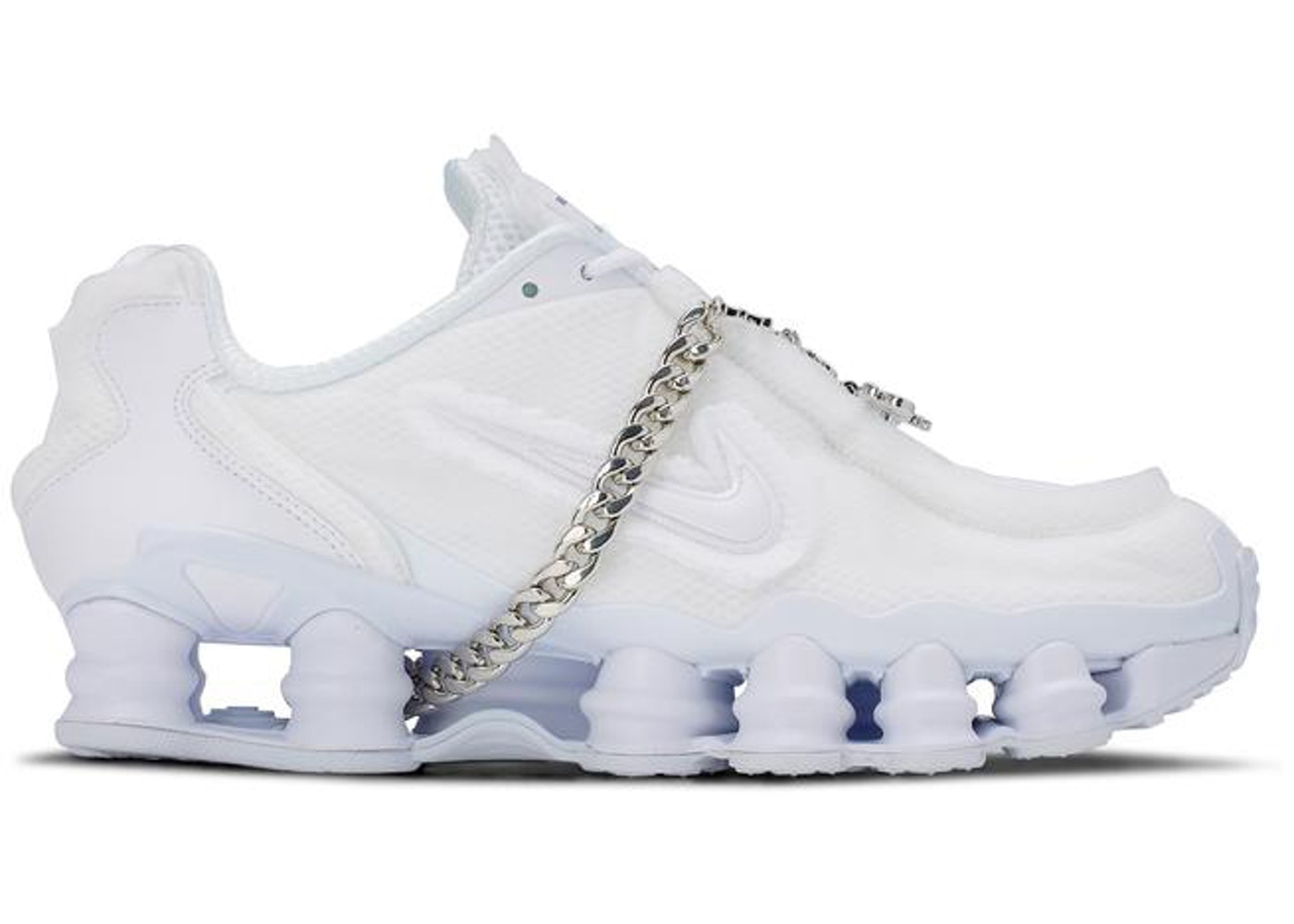 newest 3fb7b 9a297 Nike Shox TL Comme des Garcons White (W)