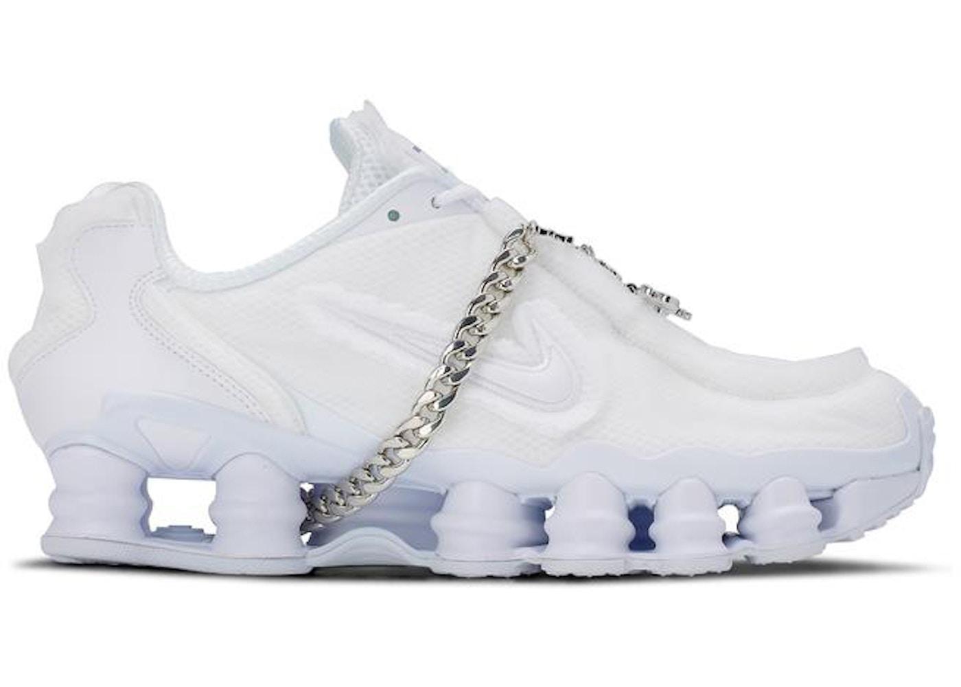 equilibrio Intenso Menda City  Nike Shox TL Comme des Garcons White (W) - CJ0546 100