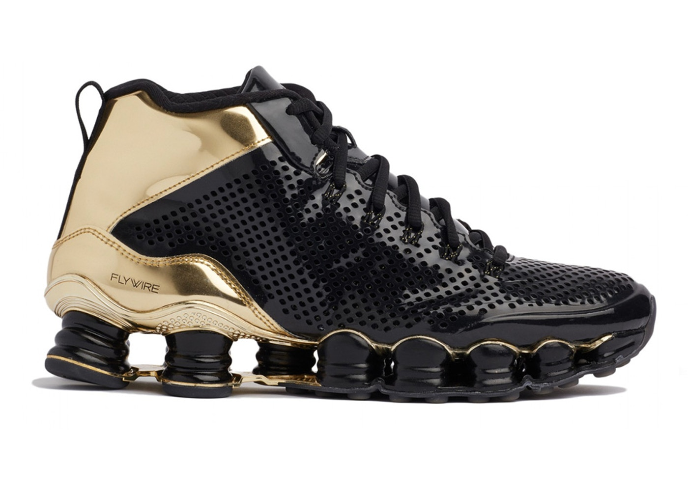 reputable site 3e685 25a36 Nike Shox TLX Mid SP Black Gold - 677737-002