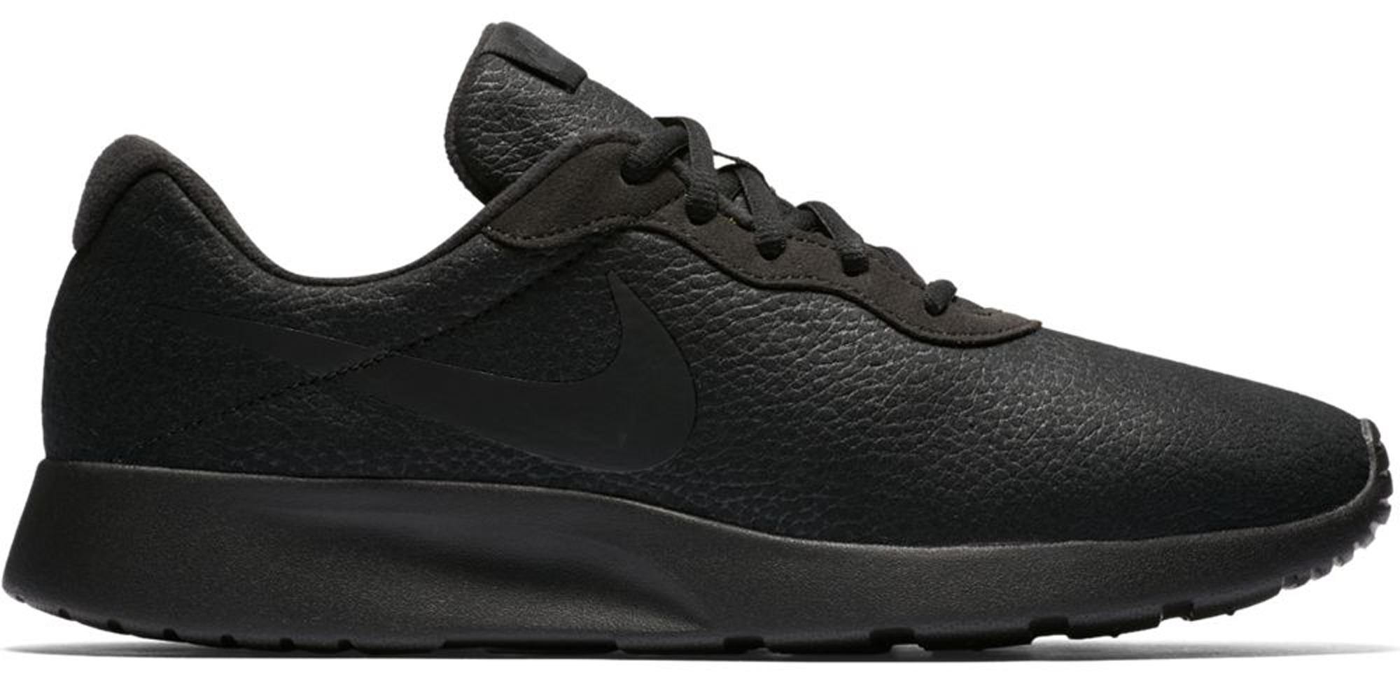 Nike Tanjun Premium Black Leather