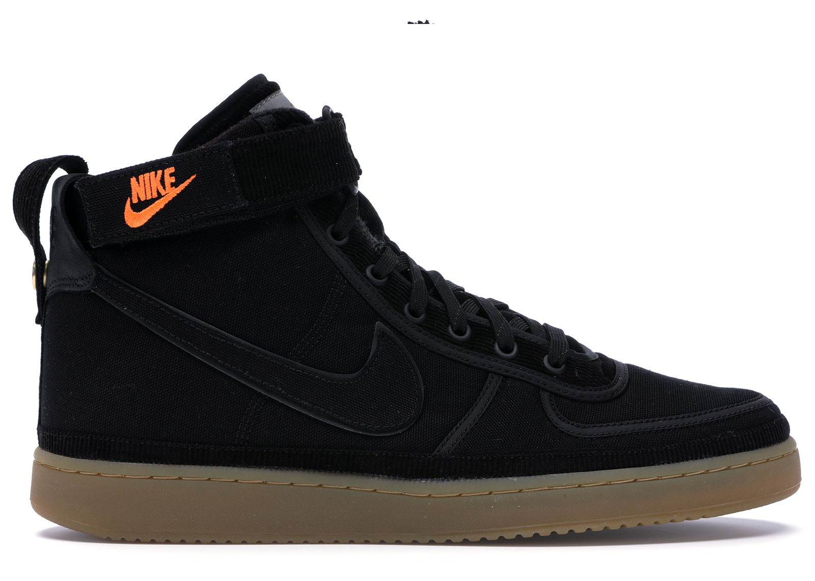 Nike Vandal High Supreme X Carhartt WIP Black Gum Brown Mens Shoes AV4115-001