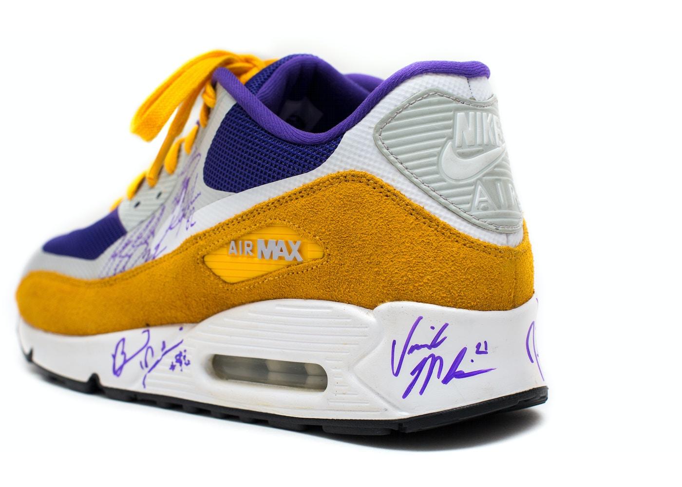 official photos d1498 7f7fd Nike Air Max 90 Minnesota Vikings Signed (sz 12)