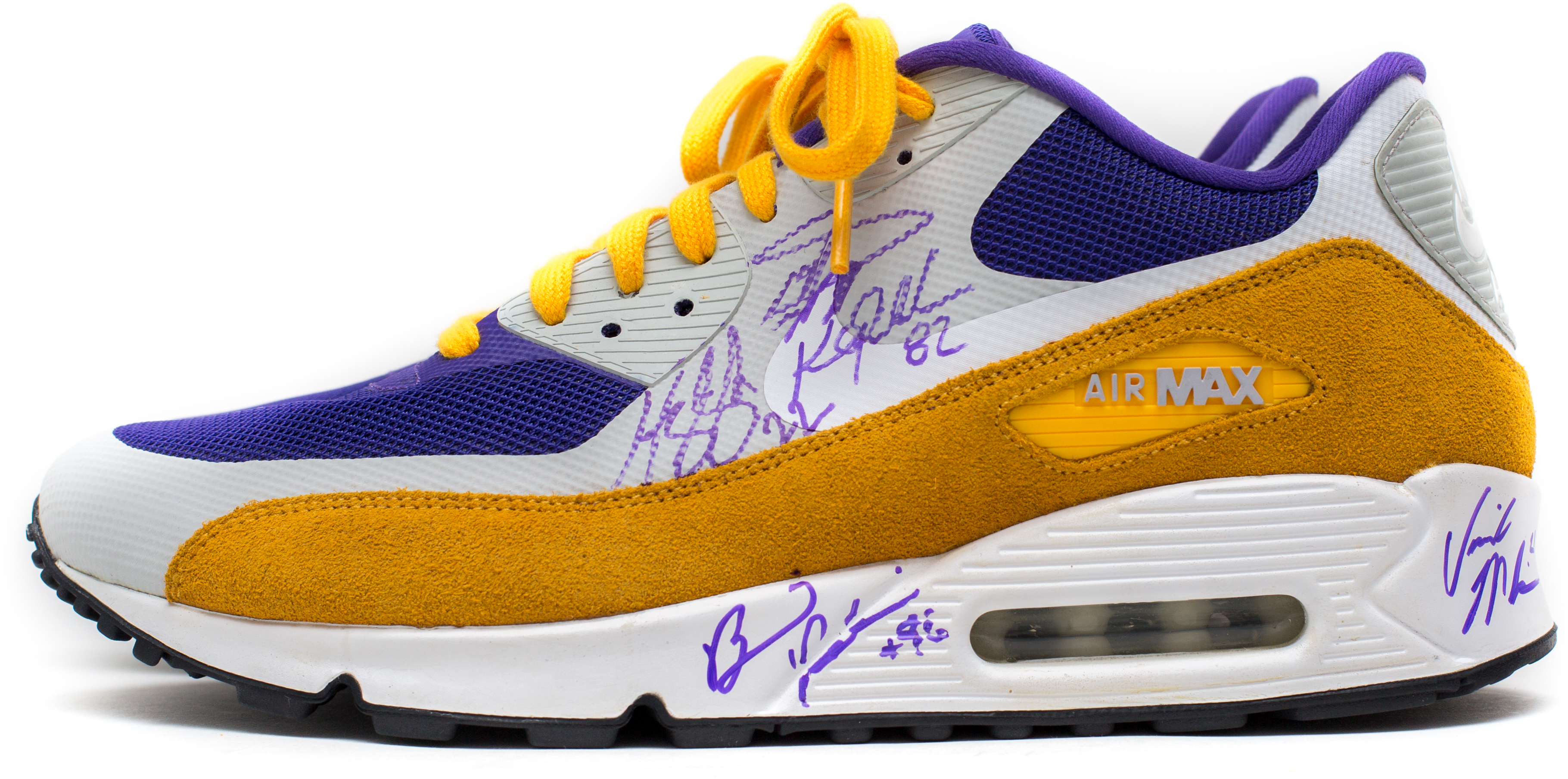 uk availability 3b790 773f9 ... nike air max 90 minnesota vikings signed sz 12 ...