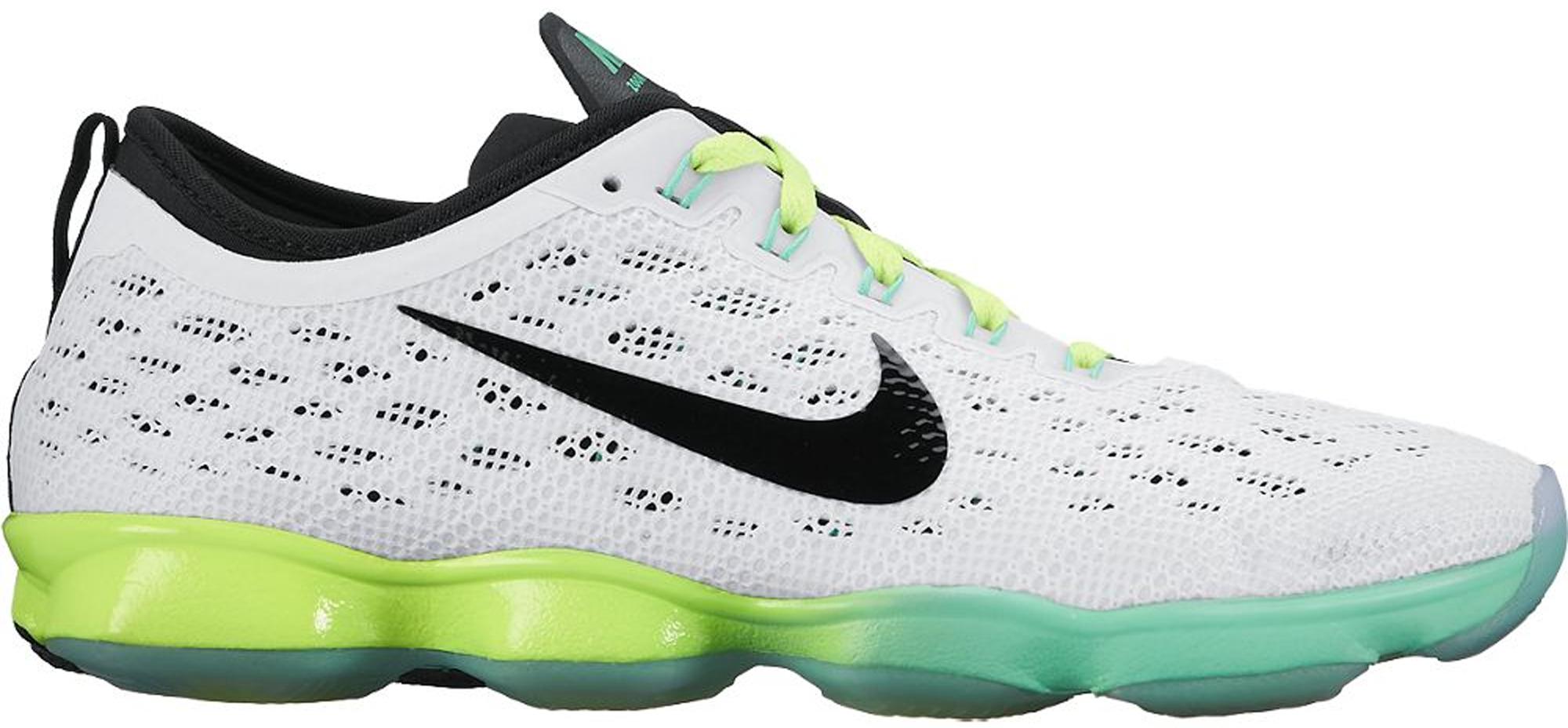 Nike Zoom Fit Agility White Black Green