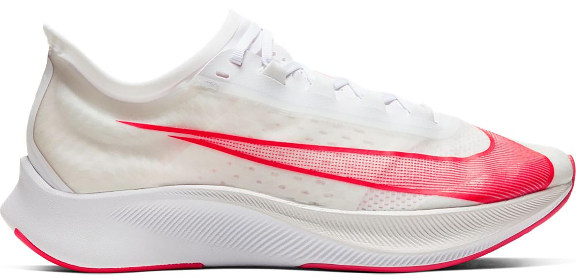 Nike Zoom Fly 3 White Laser Crimson