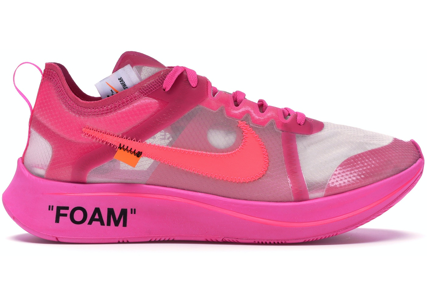 f77699a08138 Nike Zoom Fly Off-White Pink - AJ4588-600