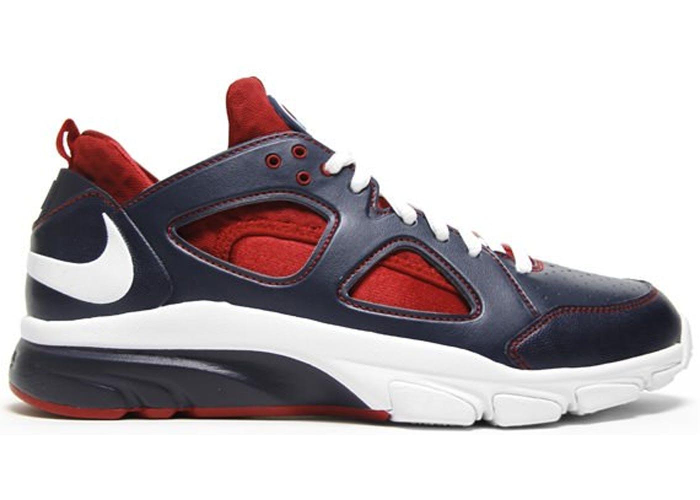 1f5f6c3b11ee Nike Zoom Huarache Trainer Low Playstation Joe Mauer Color ObsidianWhite- Varsity ...