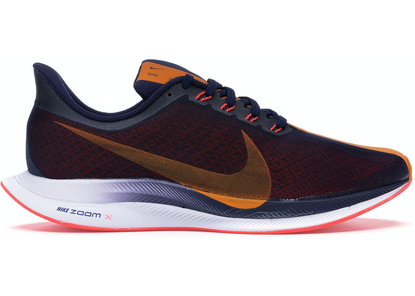 pretty nice 86a7e 32cd9 Nike Zoom Pegasus 35 Turbo Blackened Blue Orange Peel