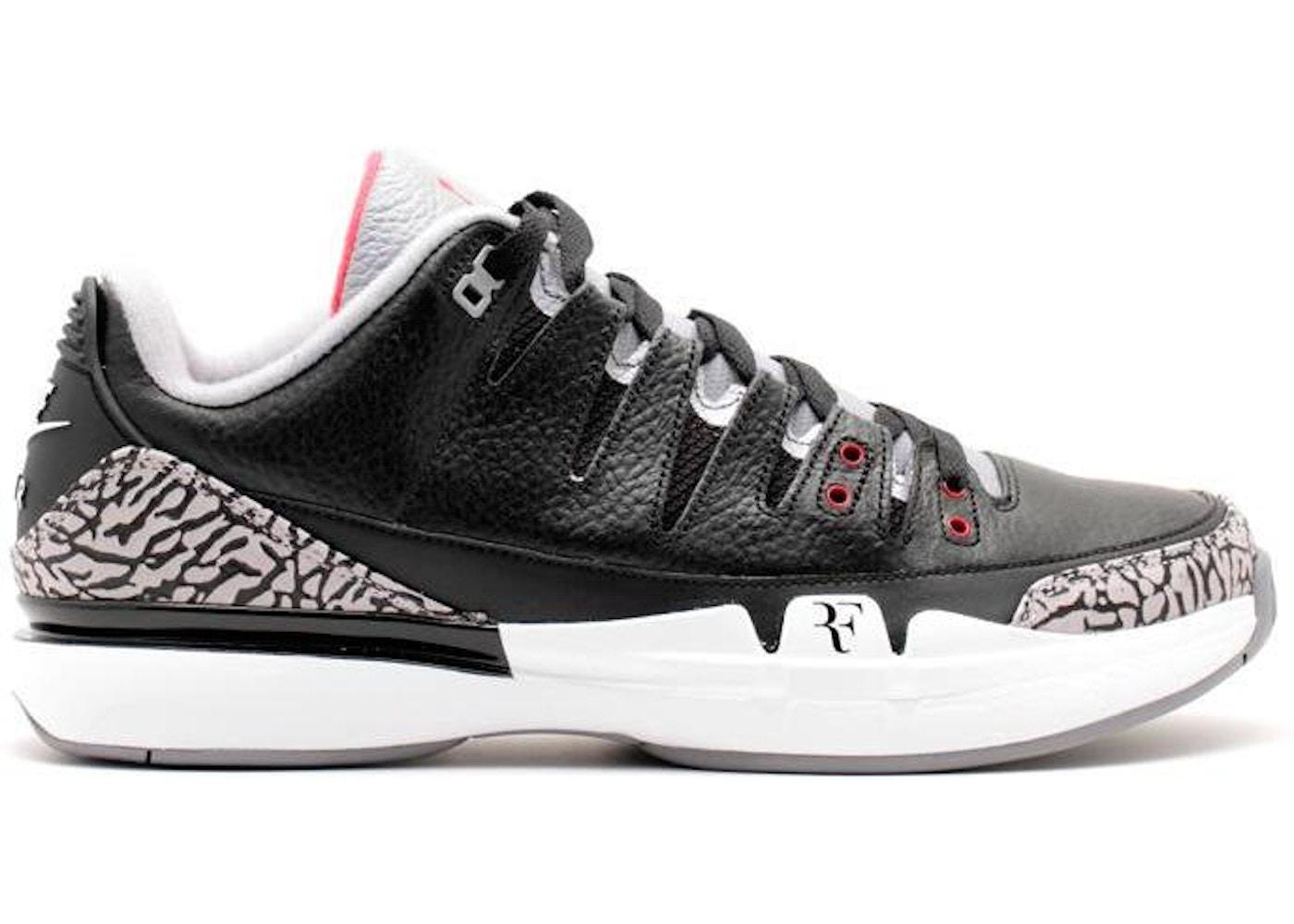 3d9639f2f8c2 Nike Zoom Vapor AJ3 Black Cement - 709998-010