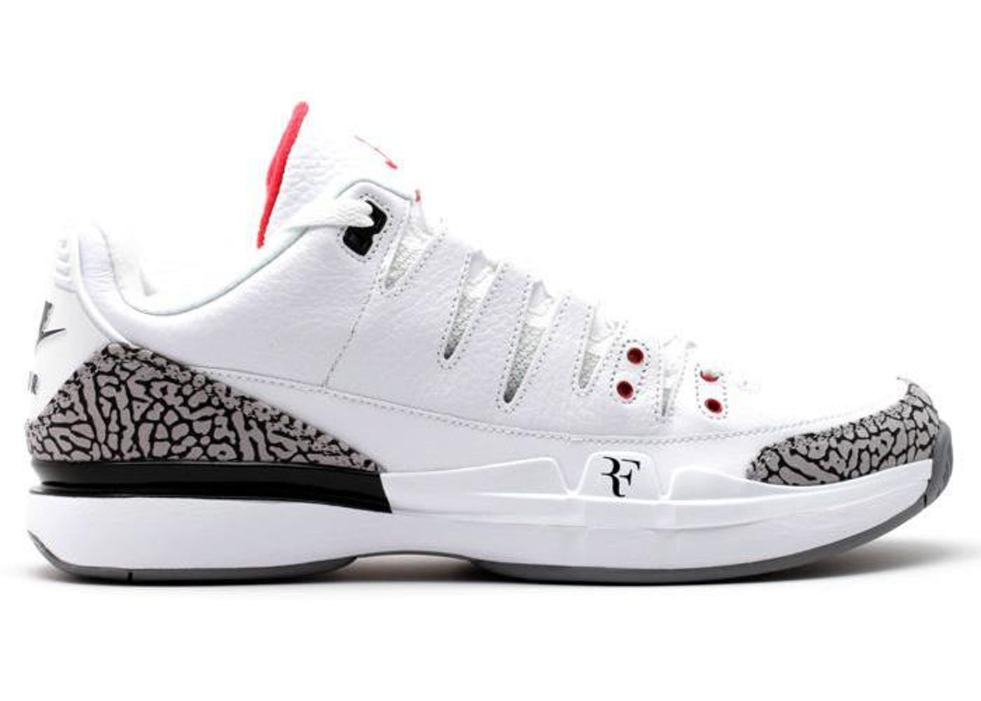 hot sale online 8814e 566ee Nike Zoom Vapor AJ3 White Cement - 709998-160