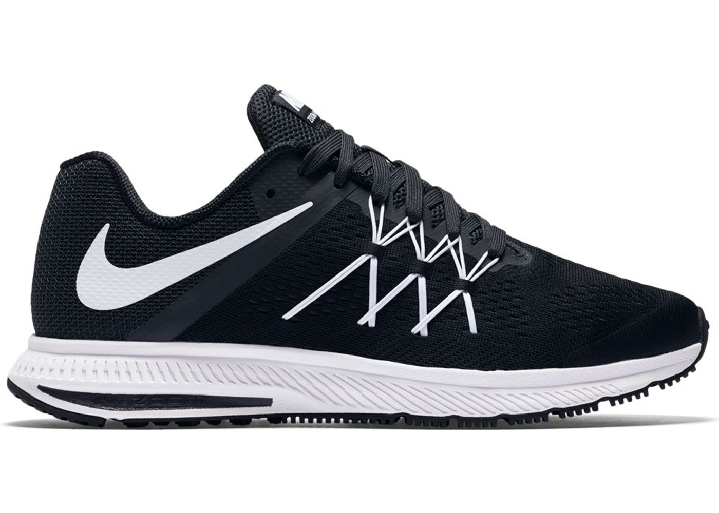 outlet store 6ff3c 2b794 Nike Zoom Winflo 3 Black White