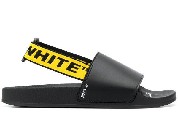 White Industrial Strap Sandals Black