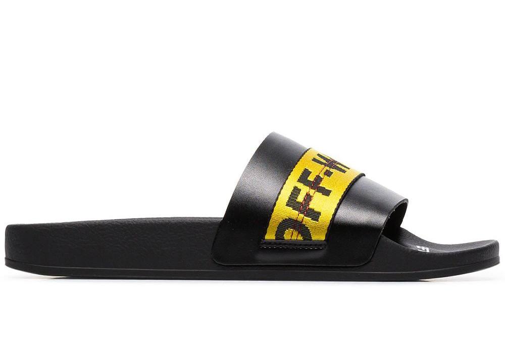 Off-White Industrial Strap Slides Black