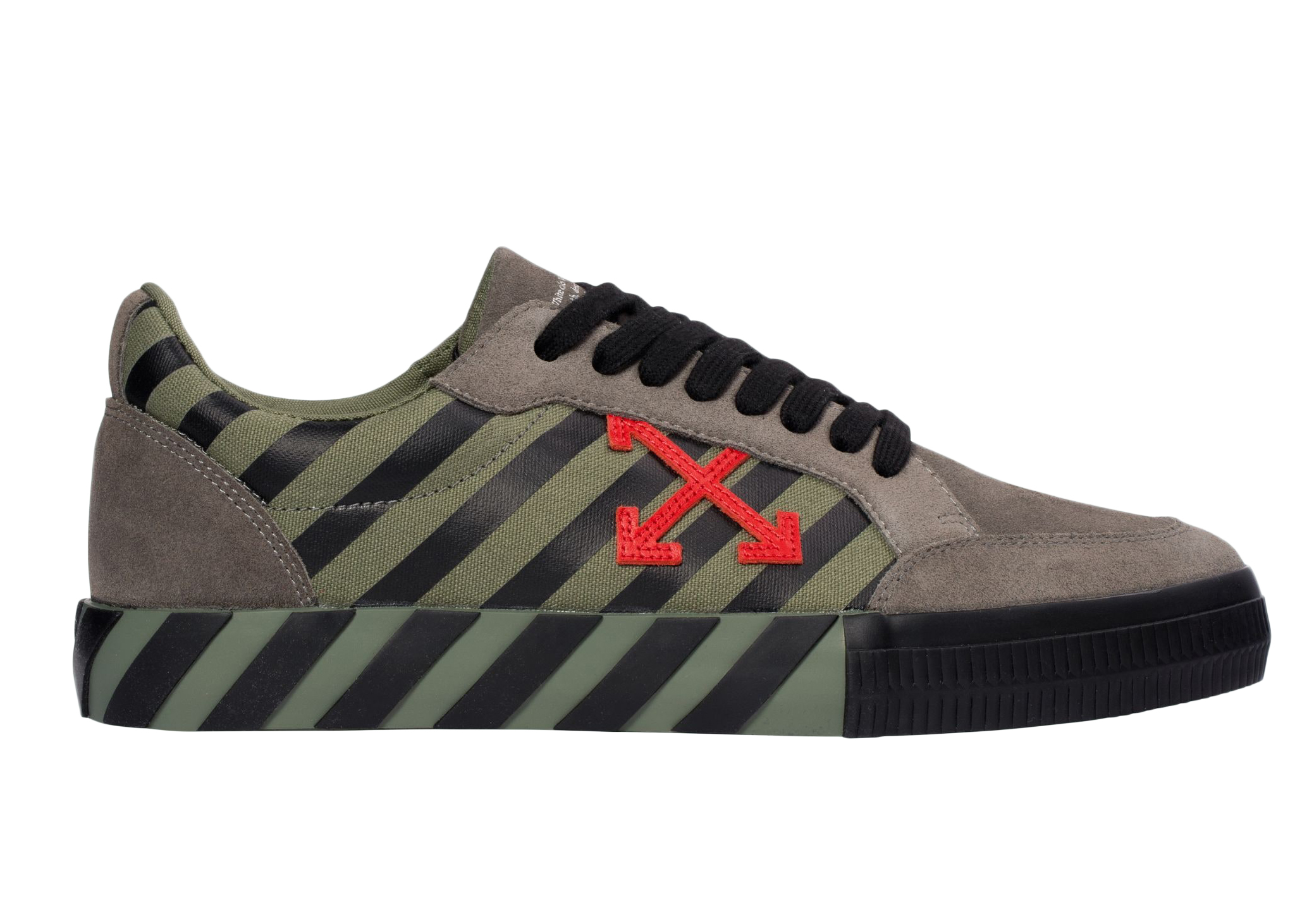 Pre-Owned Off-white Low Vulc Khaki Red