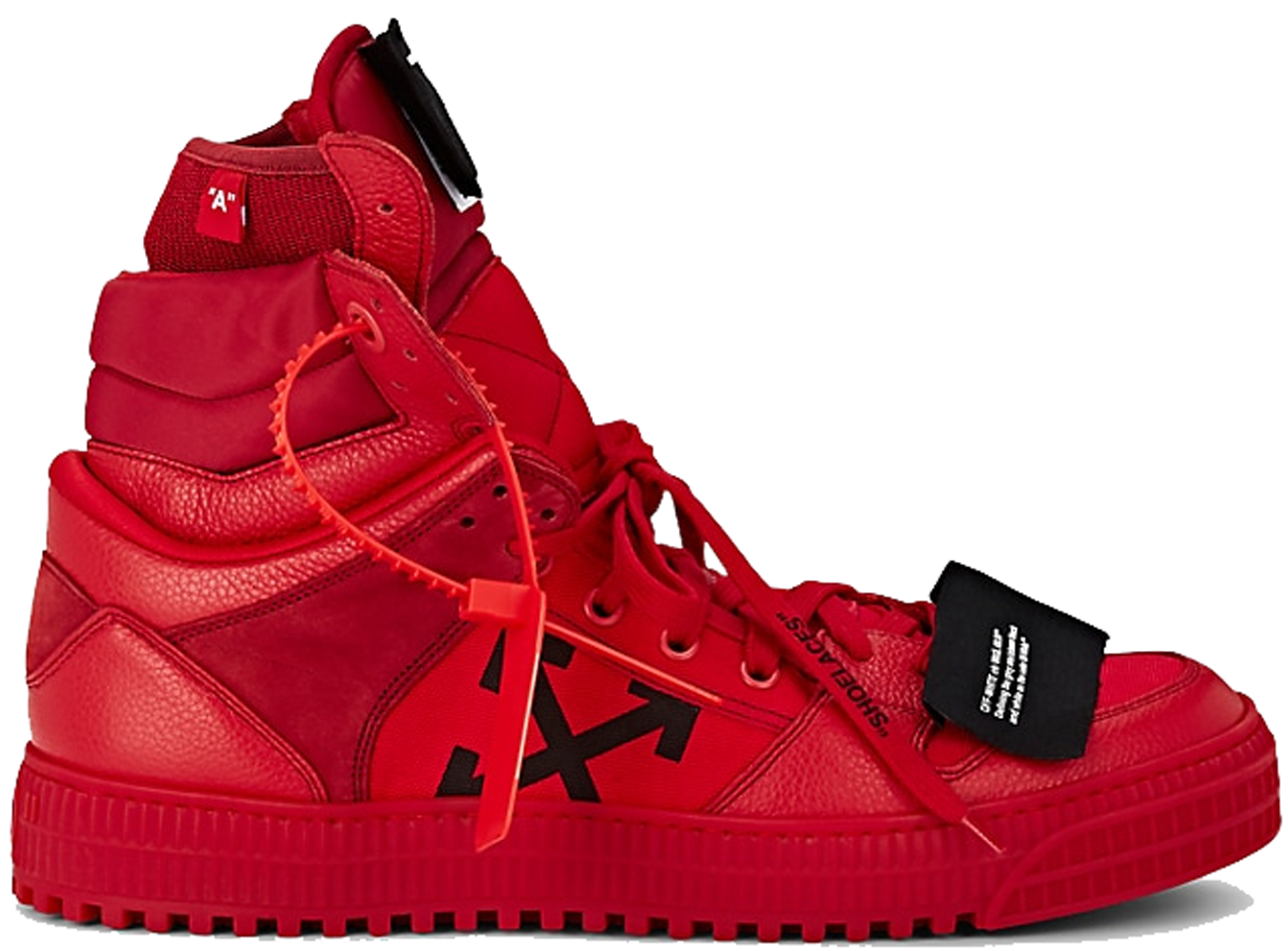 OFF-WHITE Off Court High Red - Sneakers