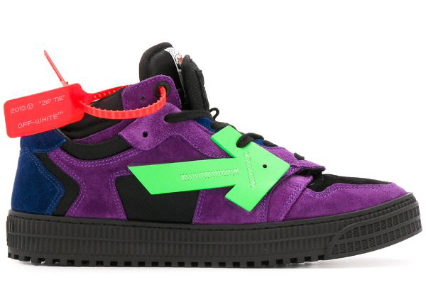 Off Court Low Top Purple Green