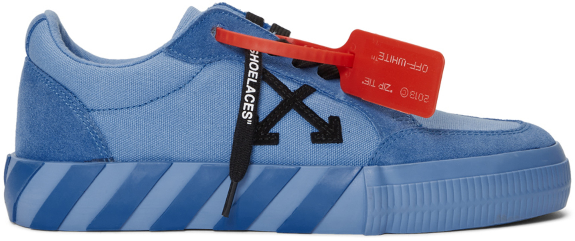 OFF-WHITE Vulc Low Blue Canvas FW19