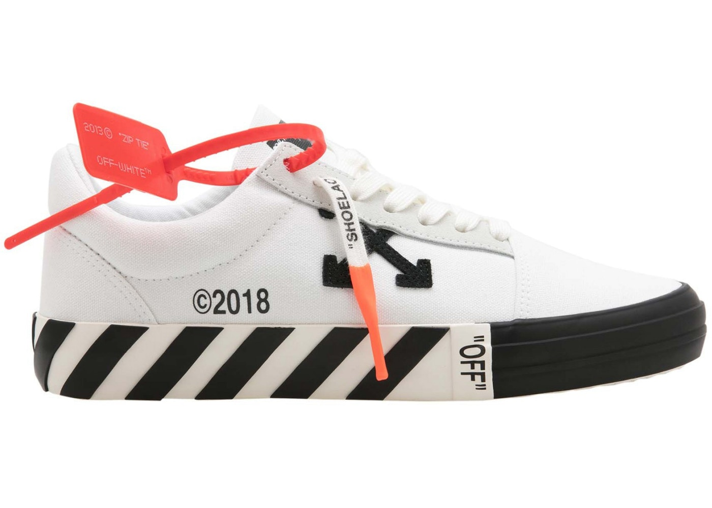 dded175e Off-White Vulc Low Top White Black (Updated Stripes) (W ...