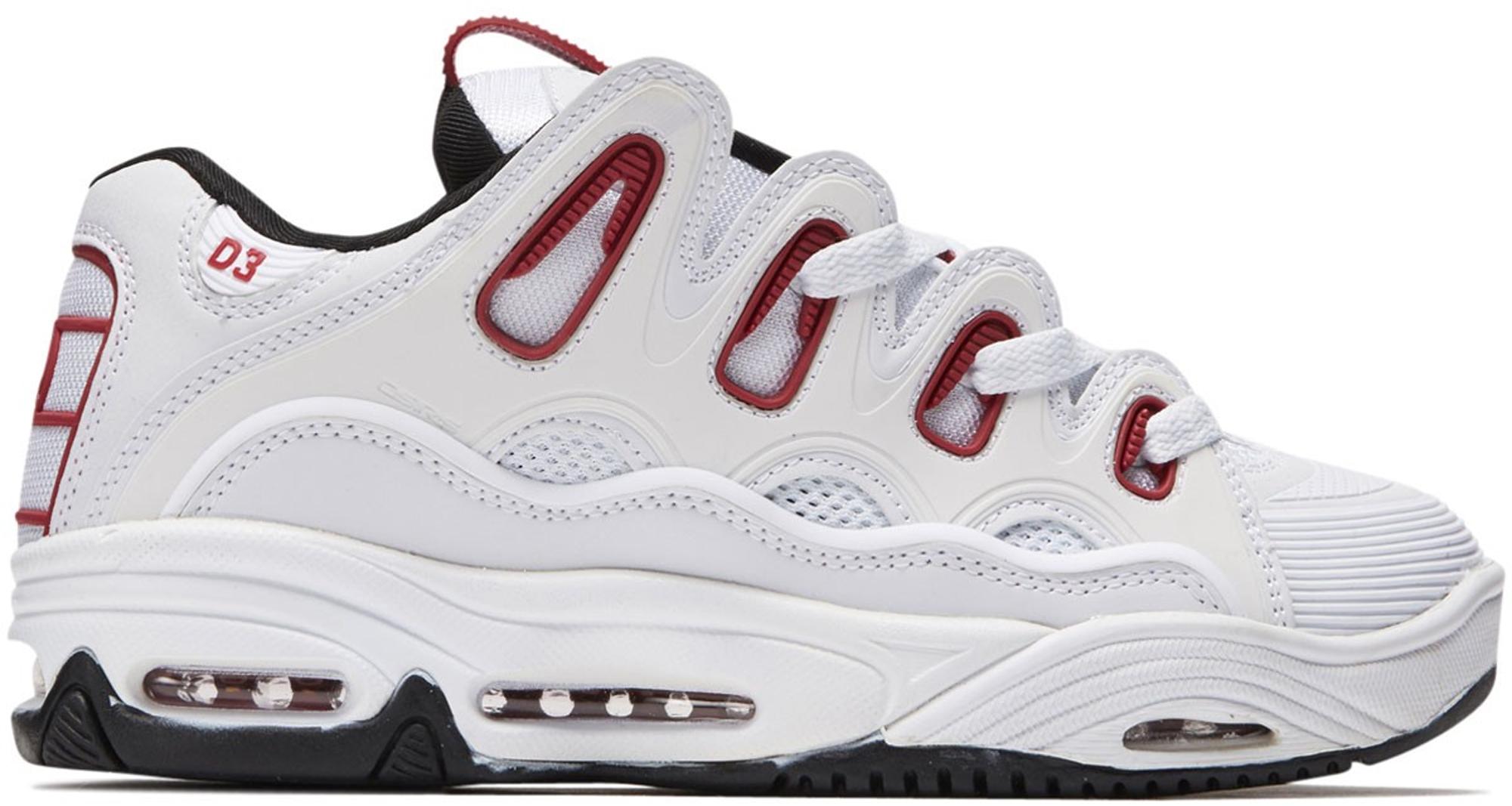 Osiris D3 2001 White Red - Sneakers