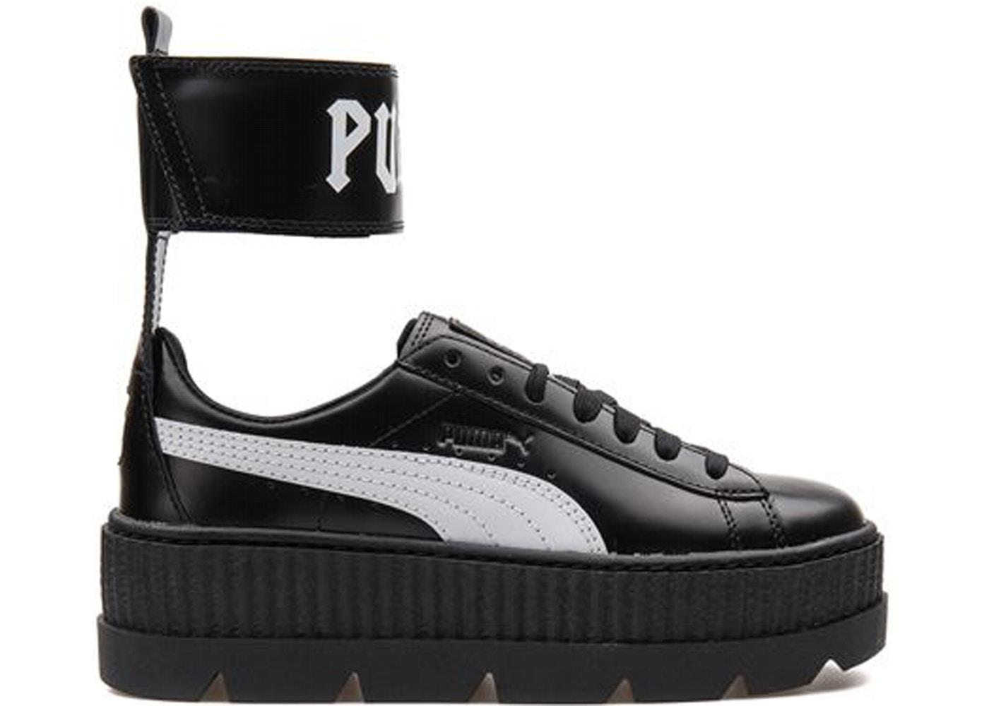 newest 54f3f 3b1ba Puma Ankle Strap Rihanna Fenty Black White (W)