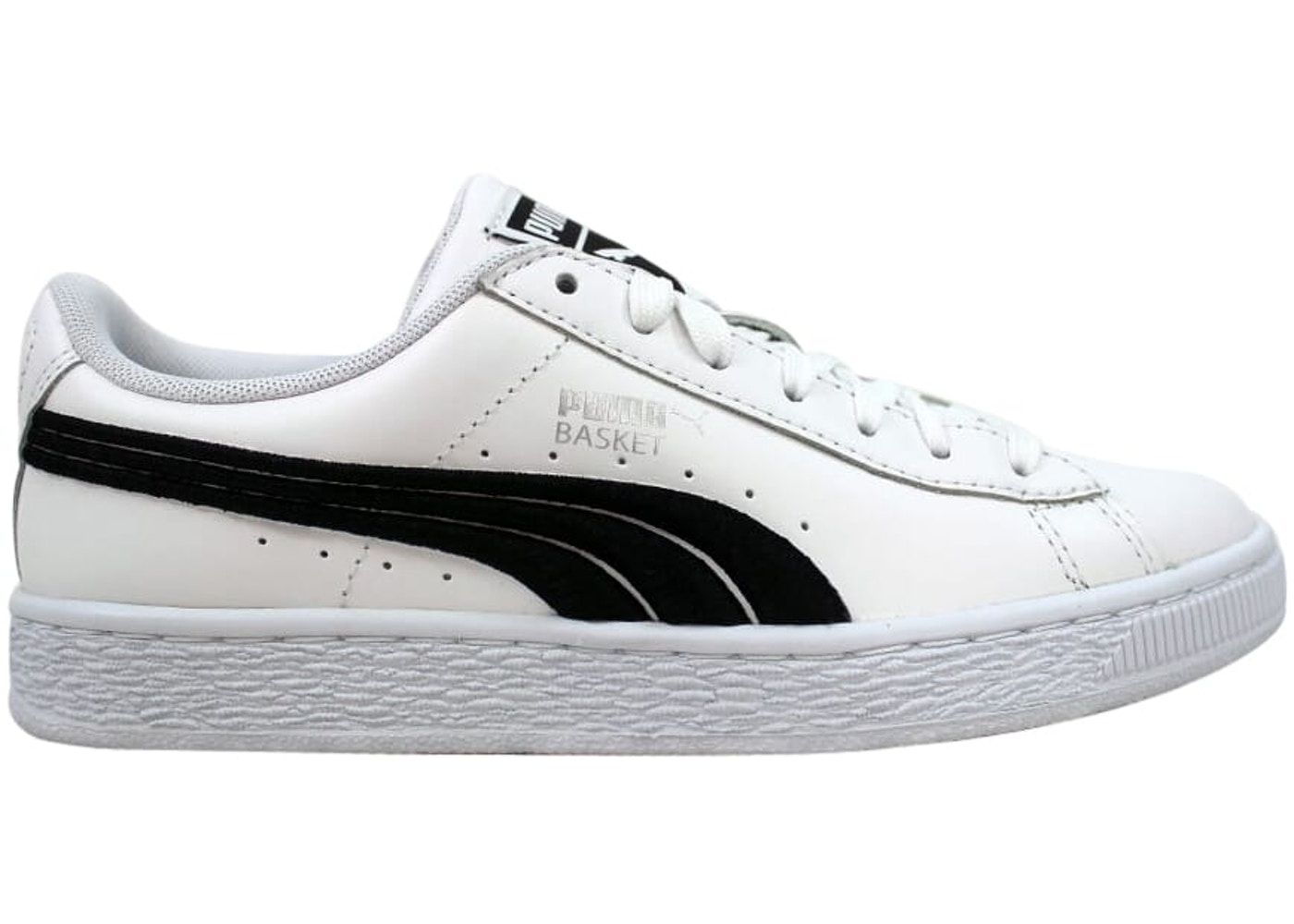 factory price be18d 0258b Puma Basket Classic Badge White