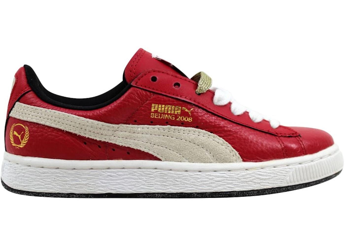 online store c804d eb45d Puma Basket Classic Games Beijing Ribbon Red/White-Black