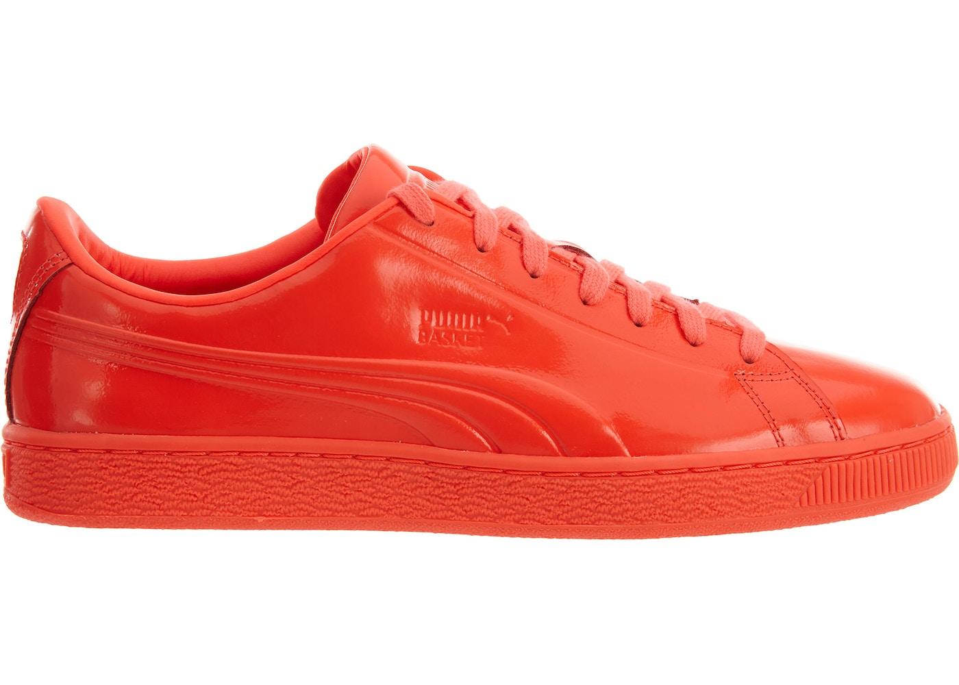new concept b7a6d 664a3 Puma Basket Classic Patent Emboss Red Blast