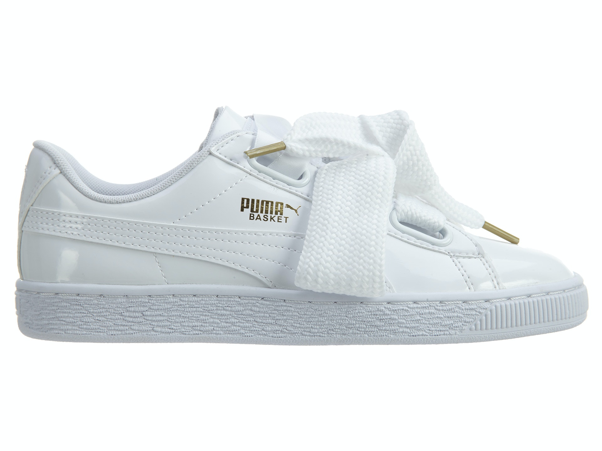 Puma Basket Heart Patent Puma White Puma White (W)