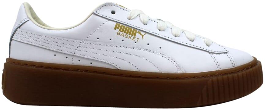 puma basket core platform white