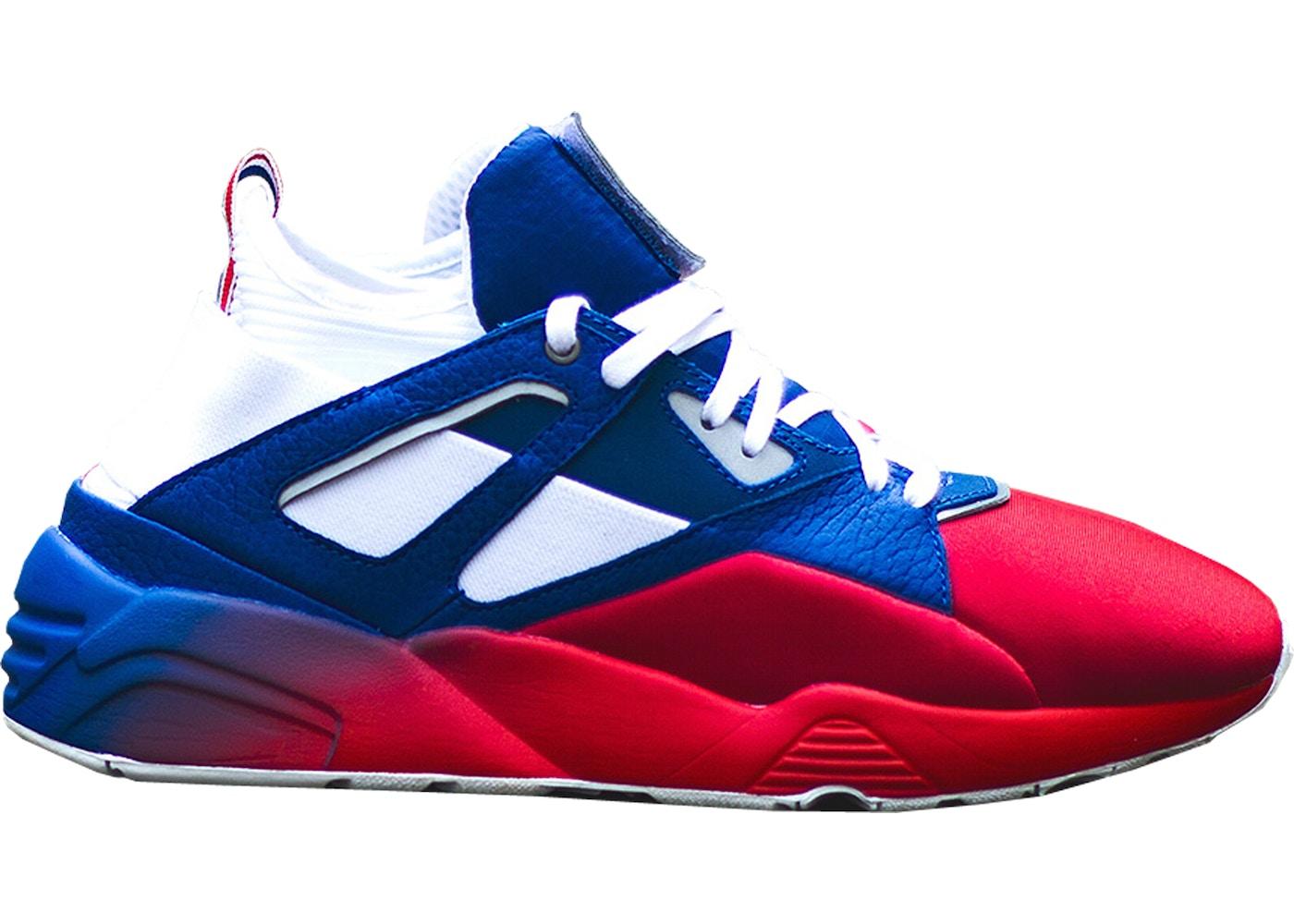 ce2852f1b84b Puma Blaze Of Glory Sock Sneakerness Paris Patriot Red - 363502-01