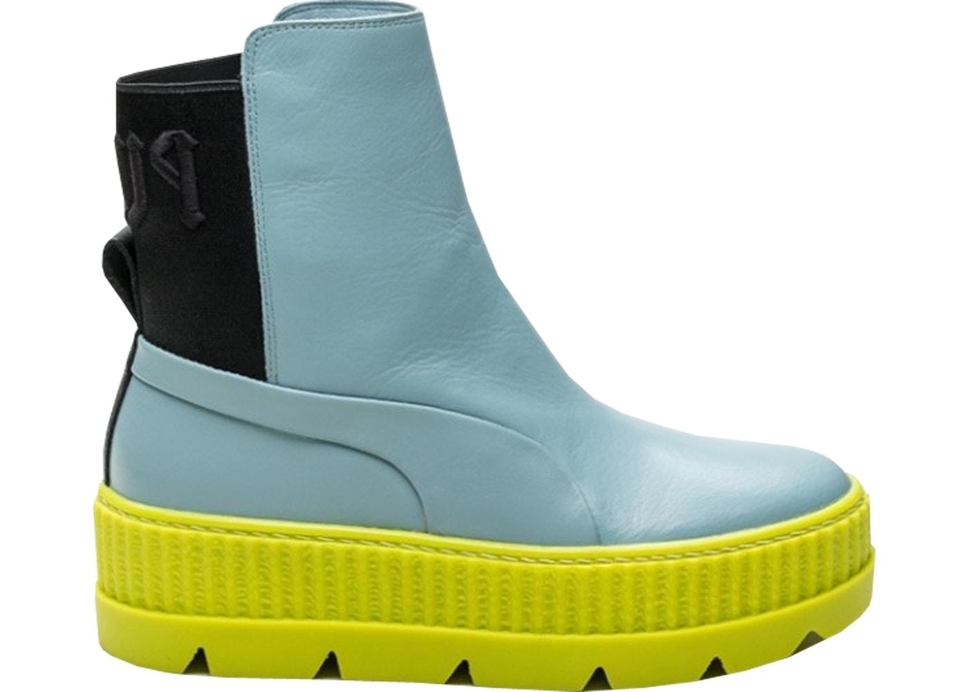 geweldige aanbiedingen 2017 herfst schoenen voortreffelijk ontwerp Puma Chelsea Sneaker Boot Rihanna Fenty Sterling Blue (W)