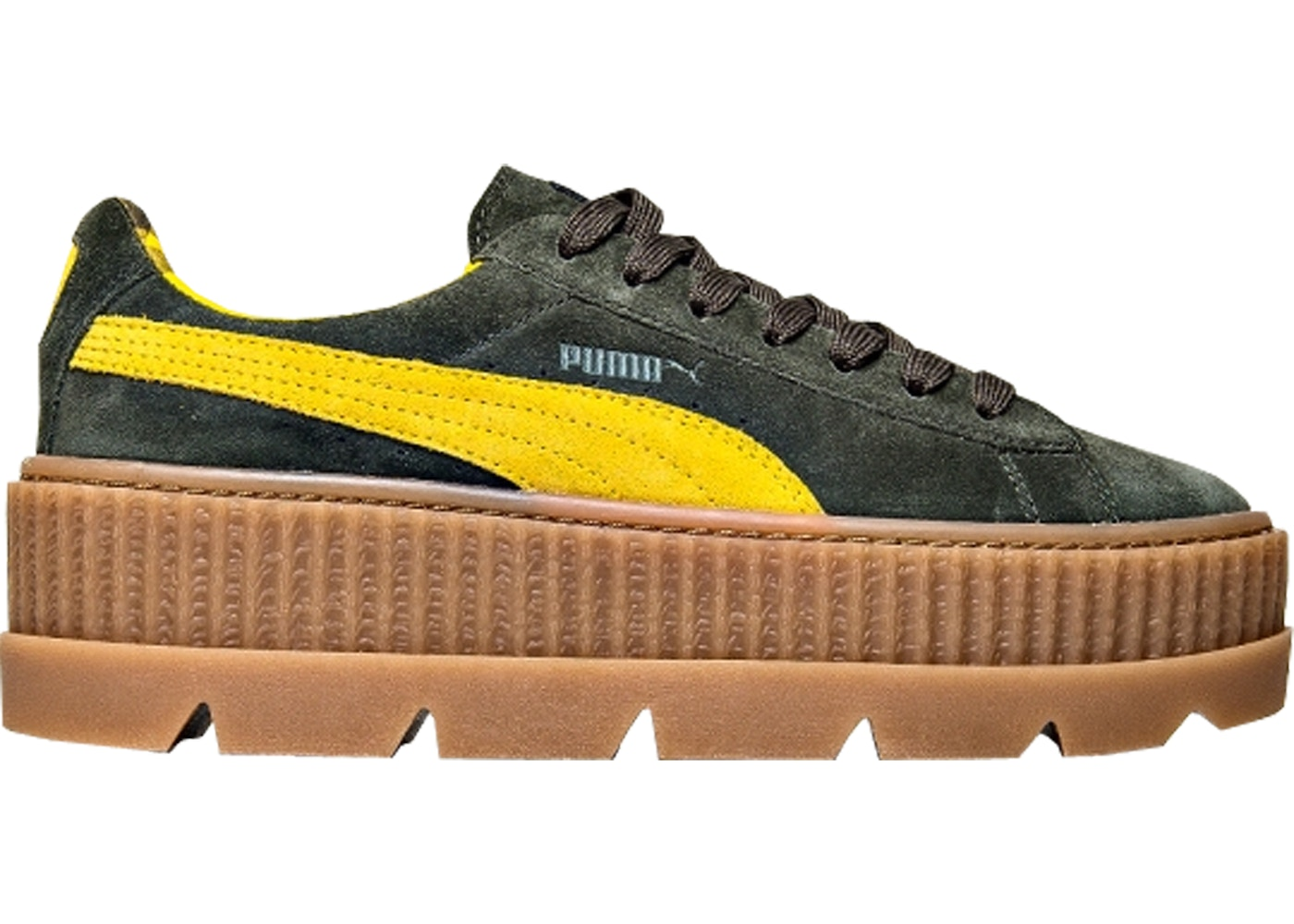 huge selection of 82305 49aaa Puma Cleated Creeper Rihanna Fenty Suede Green (W)