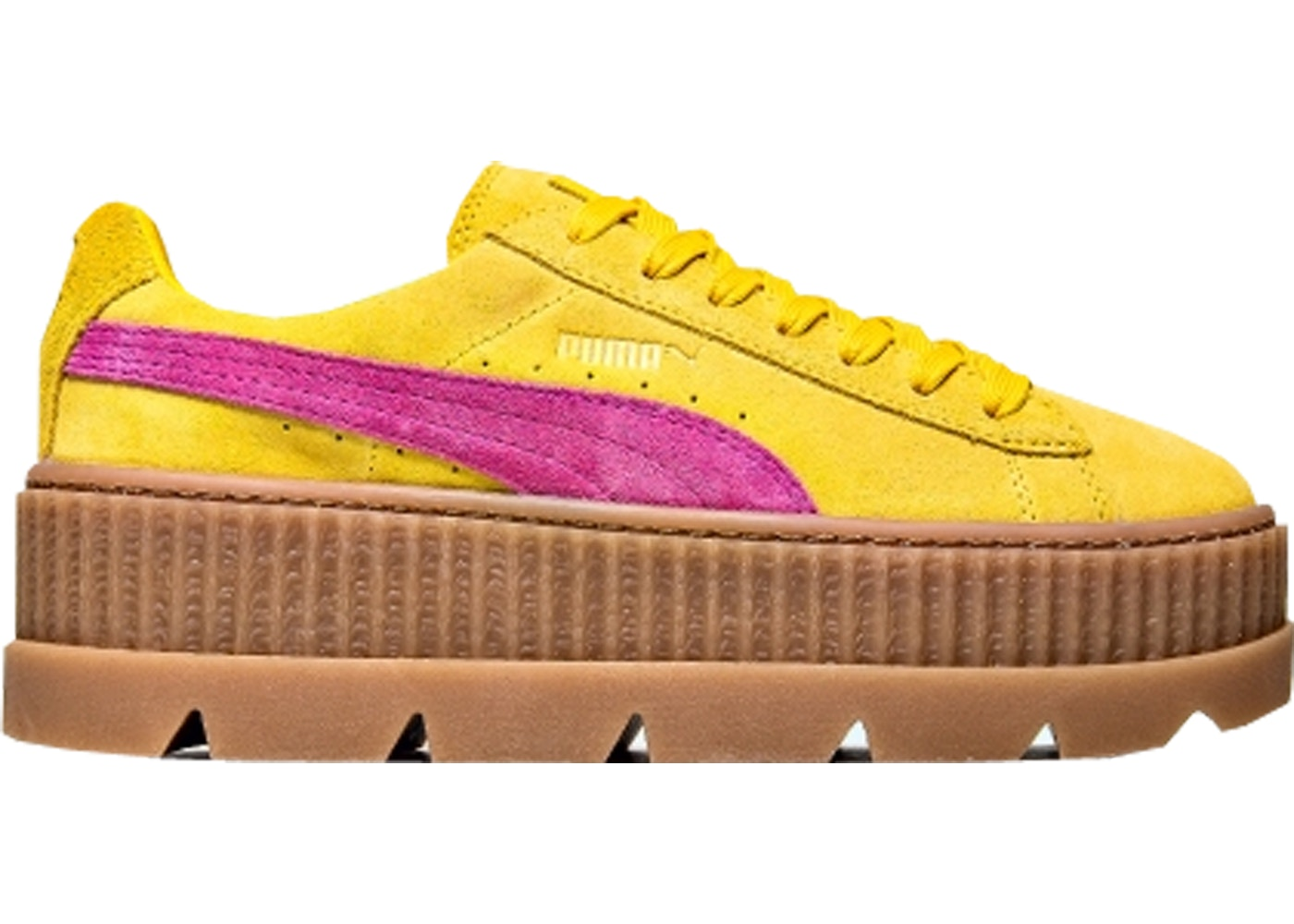 newest collection 0ad81 8dfeb Puma Cleated Creeper Rihanna Fenty Suede Lemon (W)