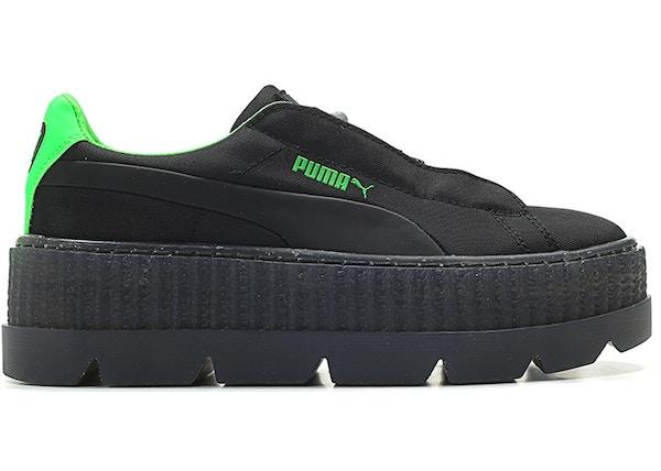 58b3bbf4c05 Puma Cleated Creeper Surf Rihanna Fenty Black Green (W) - 367681-03