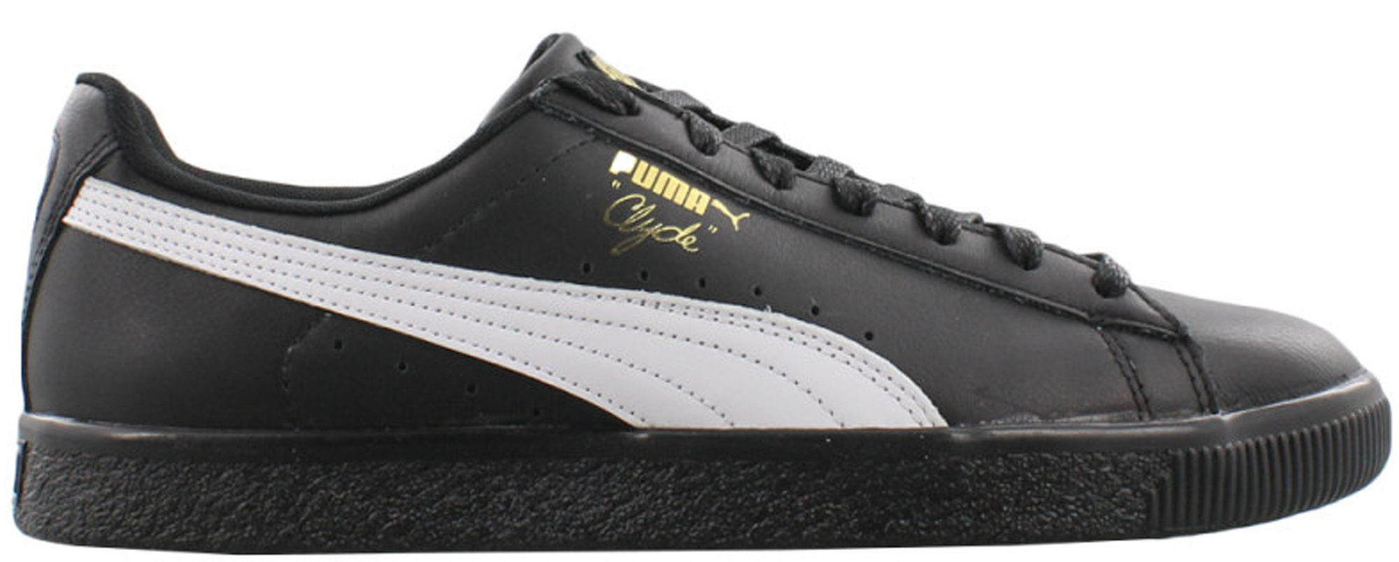 Puma Clyde Core Foil Black White