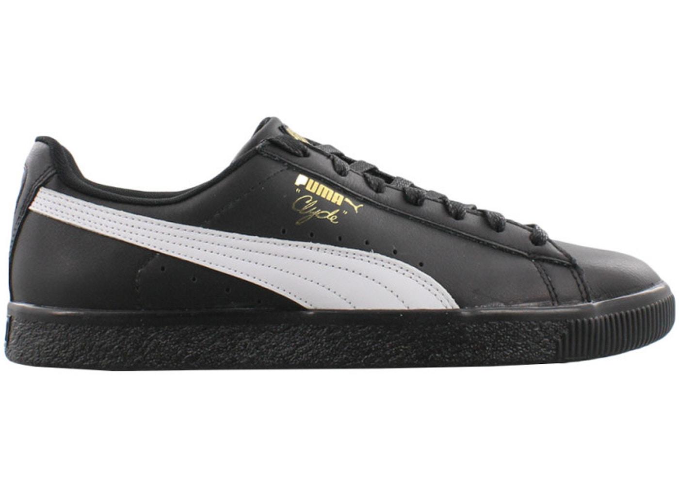 newest 426fe 2e99d Puma Clyde Core Foil Black White