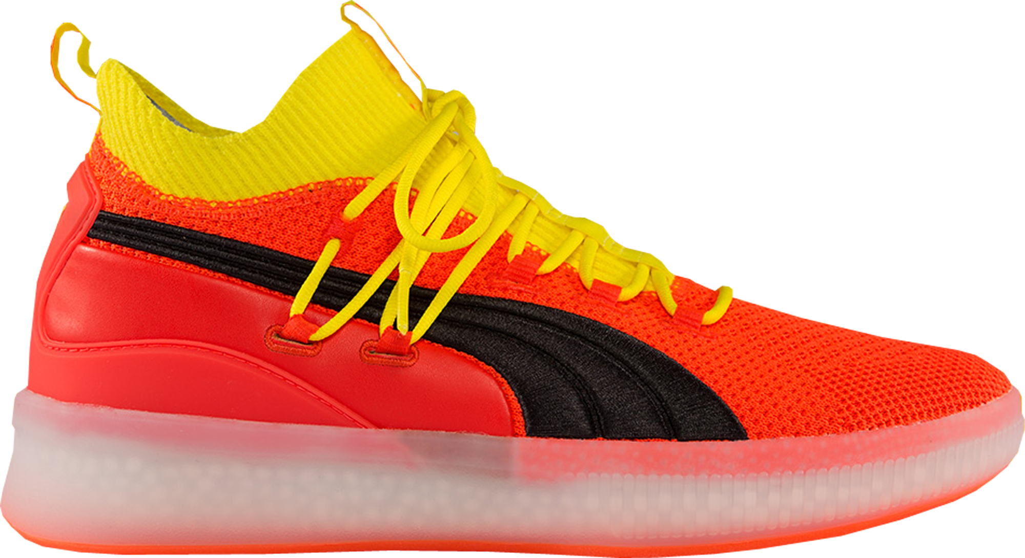 Puma Clyde Court Disrupt Orange Black Yellow