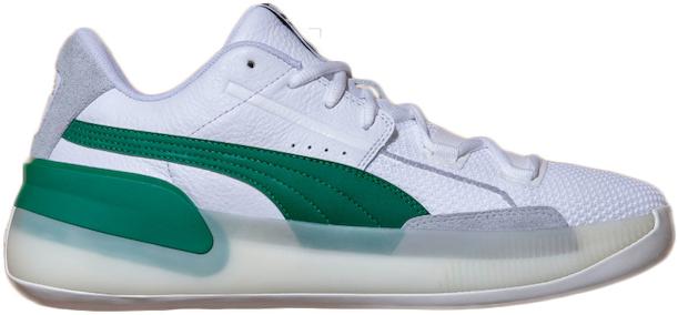 Clyde Hardwood White Green In Puma Whitepower Green
