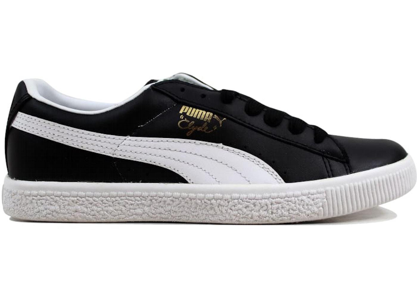 rencontrer 19860 19ec5 Puma Clyde Leather FS Black