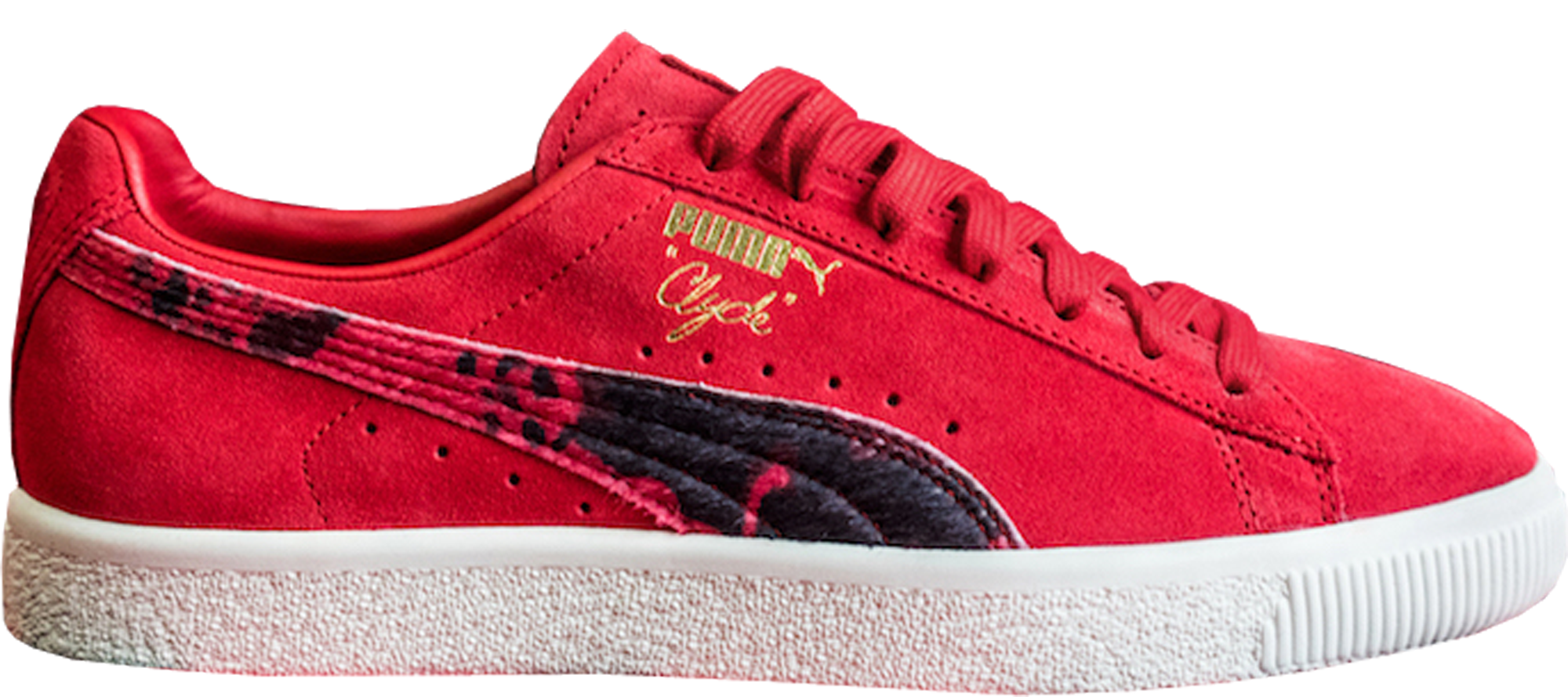 Puma Clyde Packer Shoes Cow Suit Red