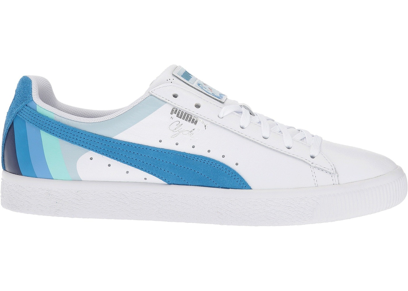 sports shoes ff7c9 5c970 Puma Clyde Pink Dolphin White French Blue