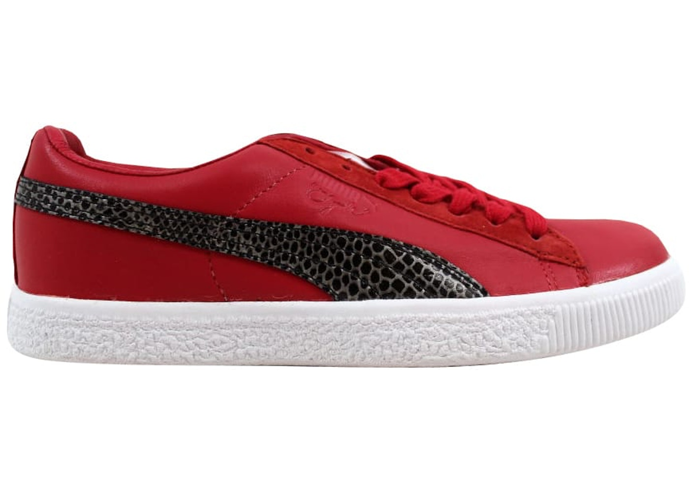 huge discount 1b0c1 76afa Puma Clyde X Undftd Snakeskin Ribbon Red - 353917-02