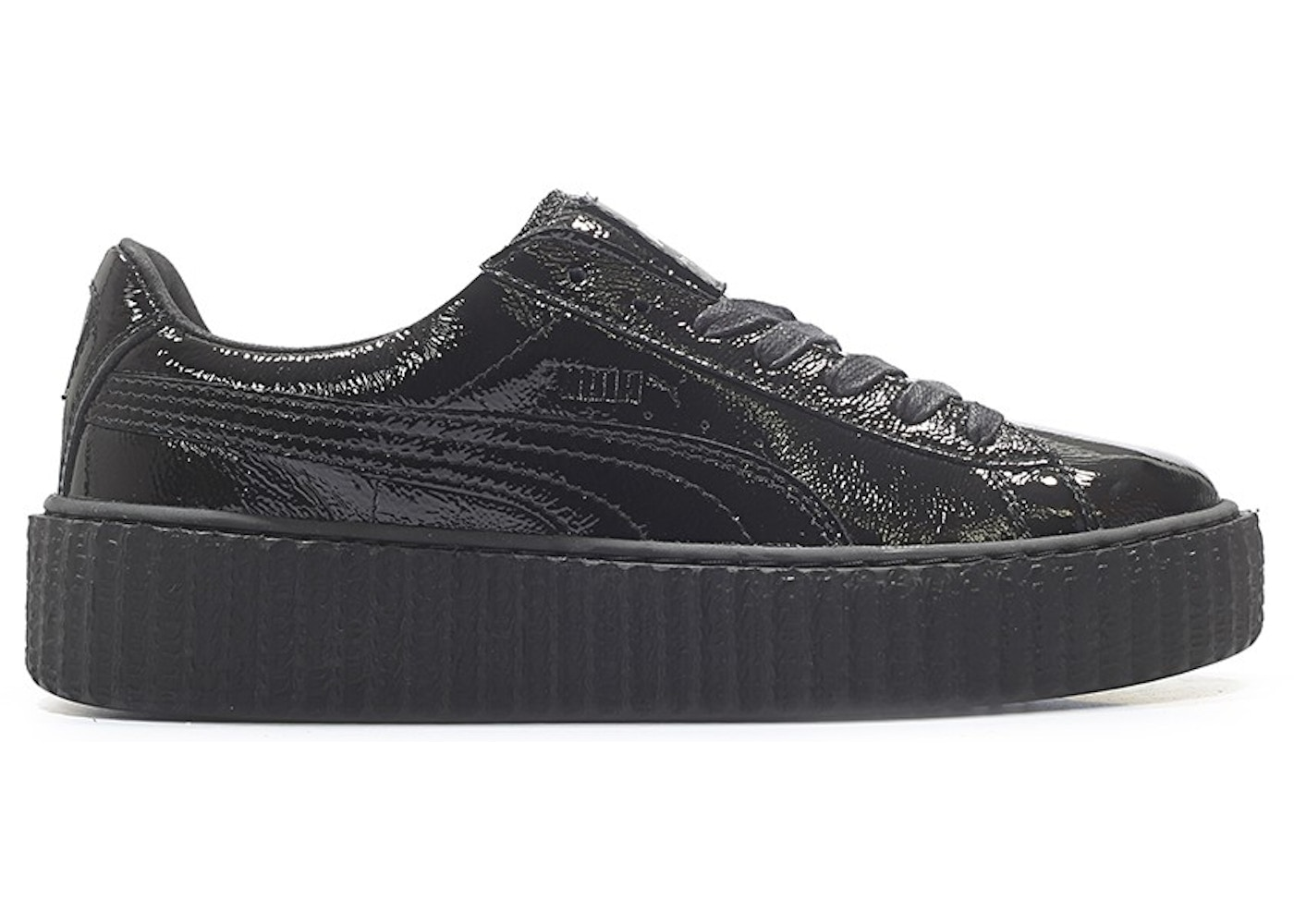 new concept a2b13 7066c Sell. or Ask. Size --. View All Bids. Puma Creeper Rihanna Fenty Cracked  Leather Black ...