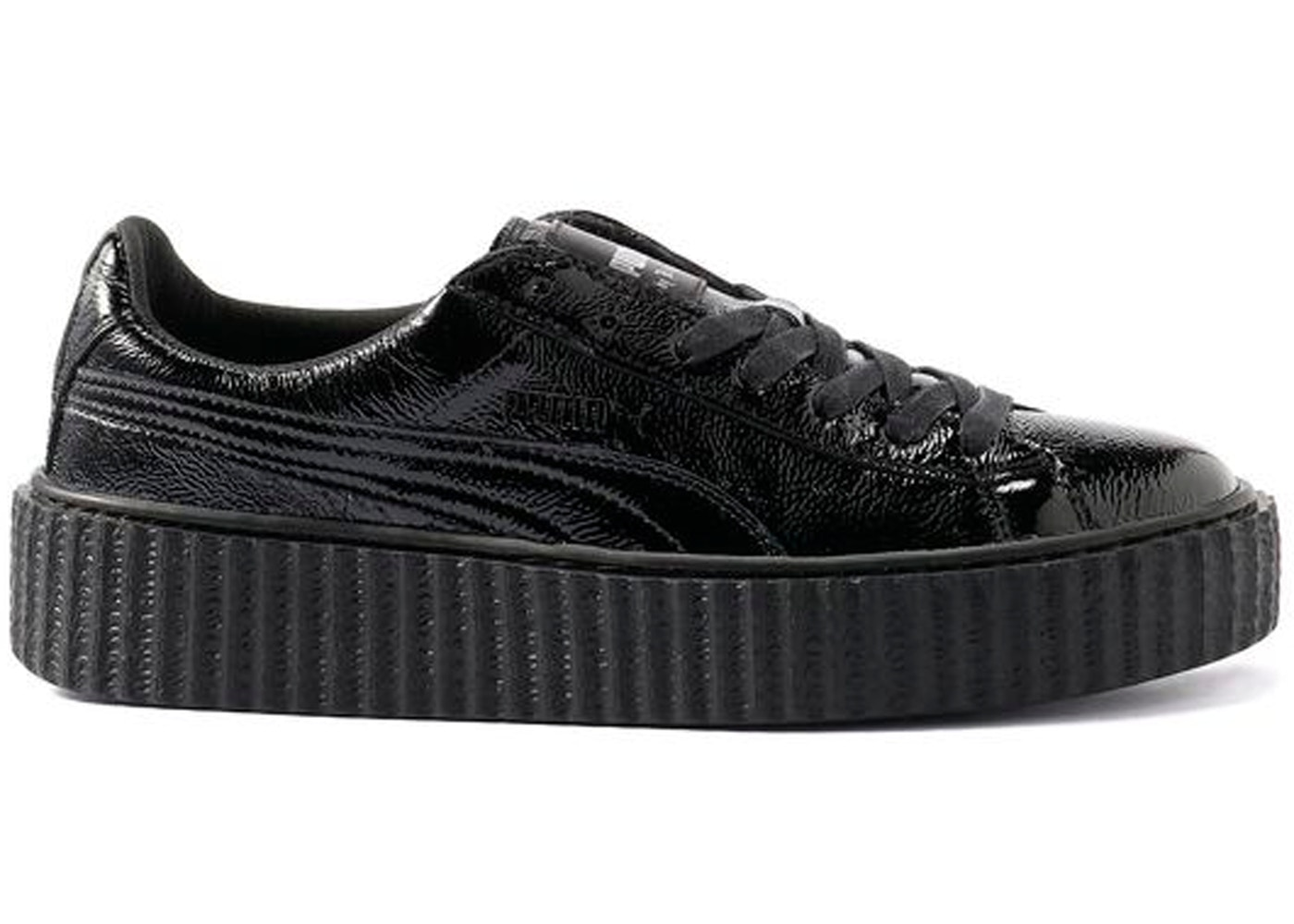 Creeper Cracked Rihanna Black Puma Fenty Leather XiukOTwPZl